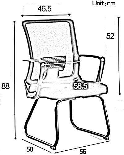 DBL kontorsstol excutive mesh kontorsstol rosett fot ergonomisk dator skrivbord stol ett stycke armstöd hög rygg spelstol för kontor möte rum skrivbord stolar (storlek: grå)