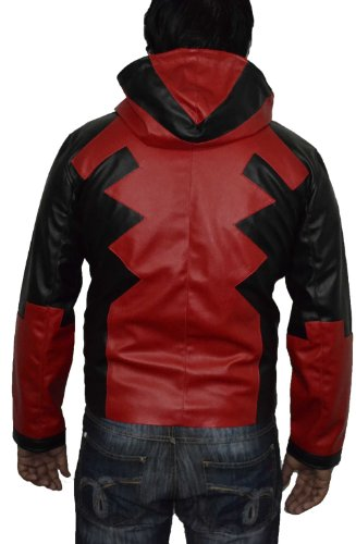 Deadpool costume, Mens deadpool costume, comic game faux leather jacket V2. All sizes available