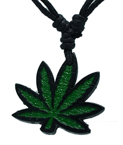 Marijuana Leaf Rasta Raggae Pendant Necklace Hawaiian Style Beach Boy Men