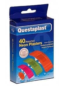 Questaplast 40 Assorted Neon Plasters by Questaplast
