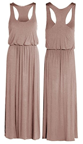 Puffball Toga Recer Back Sleeveless Long Balloon Maxi Dress MOCHA US 12/14 (Toga For Women)