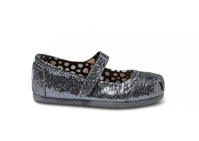 6f950e987aec Amazon.com: TOMS Kids Classics Mary Jane Pewter Glitter Size 2: Shoes