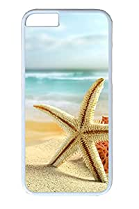 iphone 6 plus 5.5inch Case Starfish on the beach PC Hard Plastic Case for iphone 6 plus 5.5inch Whtie