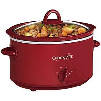 Crock-Pot 4-Quart Manual Slow Cooker, Red