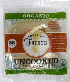 Organic Uncooked Flour Tortillas by Tortilla Fresca 36 ct