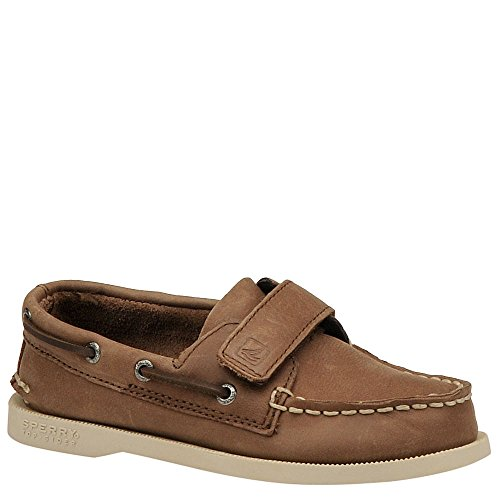 Sperry Boys A/O H&L Brown Boat Shoes CB43165 13 Child UK, 32 EU, 13.5 US
