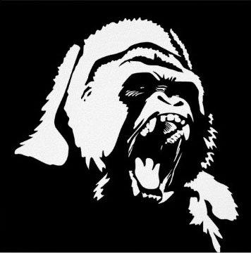 Gorilla symbol face vinyl sticker stickers vinyl sticker wall art deco decal