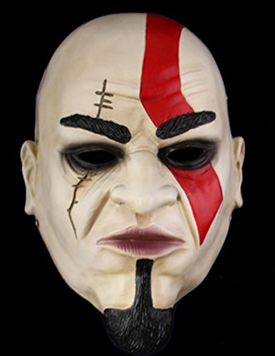 [DLLL Halloween Cosplay Mask Resin God of War Kratos Mask 1:1 Collection Replica] (Costumes Kratos)