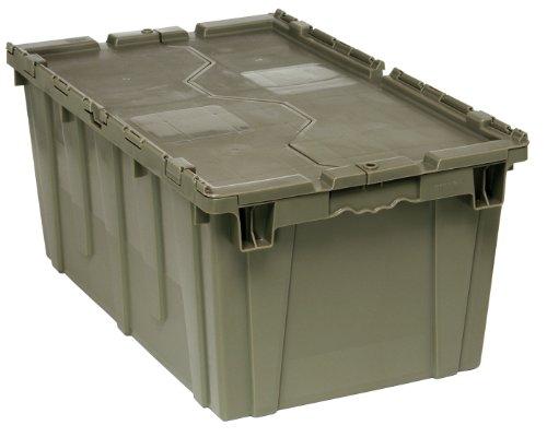 [Quantum QDC2717-12 Plastic Storage Container with Attached Flip-Top Lid, 27