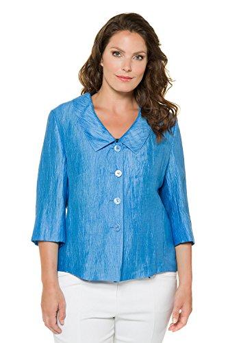 Costume Bleu Manteau OL 710612 Grandes Veste De Ulla Longues Tailles Basique Popken Slim Blouson Femme Fit Manches Ajust Cardigan lgant Blazer Jacket Femme 61ABq1