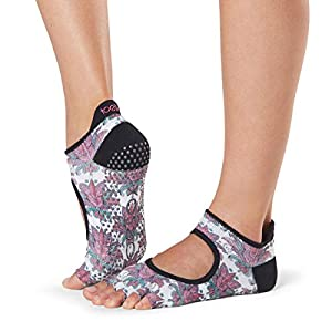 Toesox Women's Grip Half Toe Bellarina, Mantra, Medium