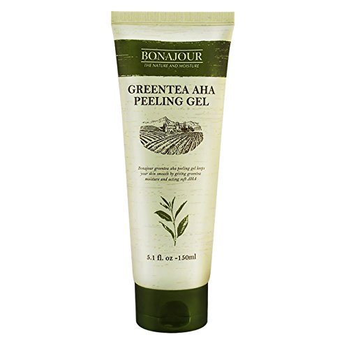 Price comparison product image [BONAJOUR] Green Tea AHA Peeling Exfoliating Gel – Best Korean Gentle facial Exfoliator 5.1Fl.oz