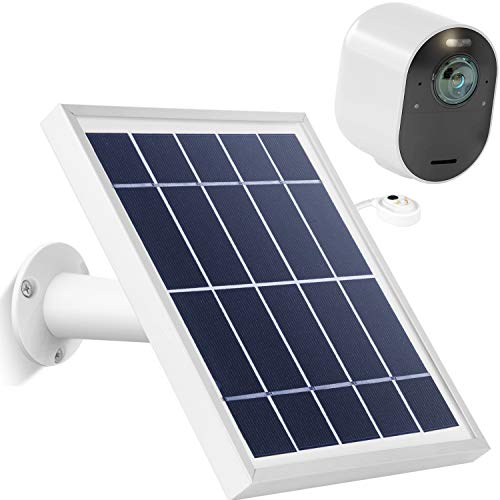 Arlo Accessory, Solar Panel Charger with Outdoor Magnetic Power Charging Cable for Arlo Ultra, Adjustiable Mount Waterproof Charge Continuously for Your Surveillance Camera (Silvery)