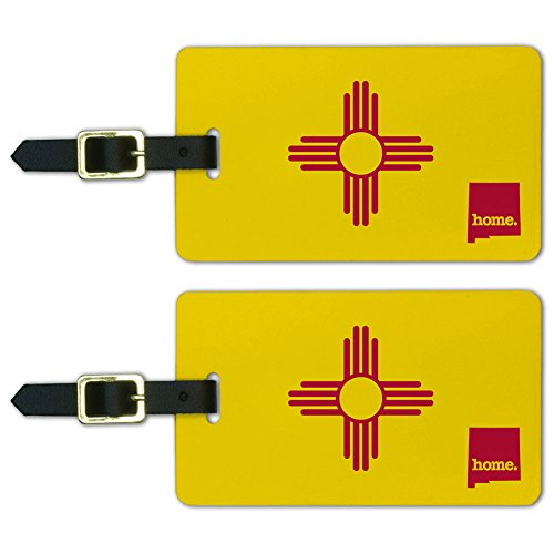 State Luggage Tag (Graphics & More New Mexico Nm Home State Luggage Suitcase Id Tags-Flag, White)