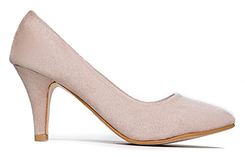 Kitten Work Dress Women's high Casual Light Sale Mid Imsu Party Heel Pump Heeled Closed Toe Comfortable Taupe Pumps Classic tC0txwpqf