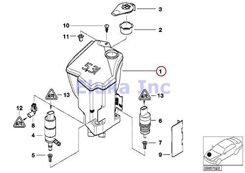 2001 bmw e46 washer reservoir - 2