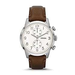 Fossil Men's FS4872 Townsman Stainless Steel Watch With Brown Leather Band