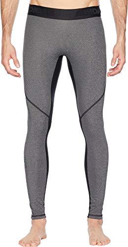 adidas Mens Training Alphaskin Sport Long Tights, Dark Grey Heather/Black, Medium