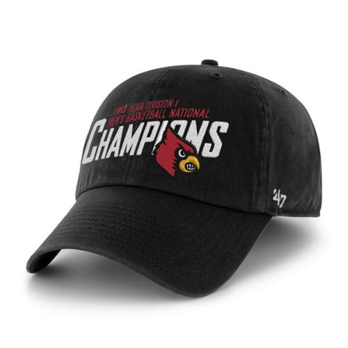 NCAA 2013 Men's Basketball National Champion University of Louisville Cardinals Adjustable Black Washed Twill Cap by '47 Brand 2013 Ncaa Mens Basketball
