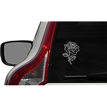 Amazoncom Red Rose Car Bumper Sticker Window Decal X - Custom car bumper stickers