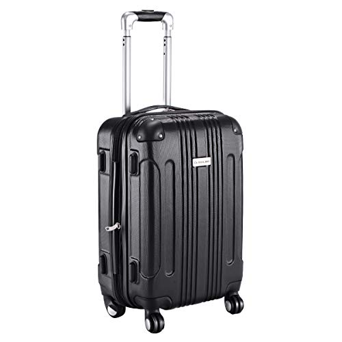 Goplus Carry On Luggage 20-inch ABS Expandable Hardside Travel Bag Trolley  Suitcase GLOBALWAY ( a498a9305d