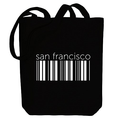 US San Bag Cities Idakoos Canvas barcode Idakoos Francisco Tote San zYXzEaqF