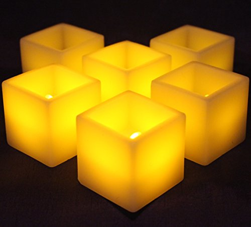 Lytes Flameless Candles ,square Votive candle