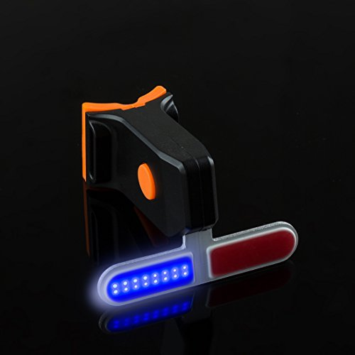 Bright Flashing Taillight Bicycle Red Blue Two Tone Combo Water Resistant LED Flashing Cycling Taillight Fits All Bikes Rechargeable led Safety Light Rechargeable