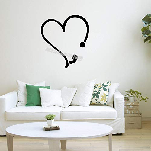 Corazón de vinilo tatuajes de pared estetoscopio punto y coma ...