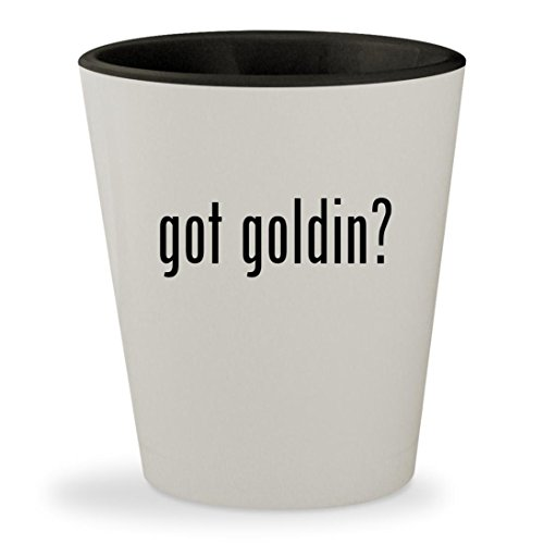got goldin? - White Outer & Black Inner Ceramic 1.5oz Shot Glass