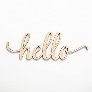 Hello Wood Sign Home Décor Wall Art 89