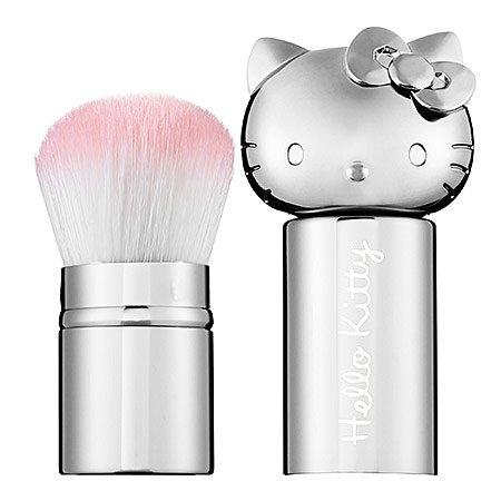 Hello Kitty - Retractable Kabuki Brush - Silver