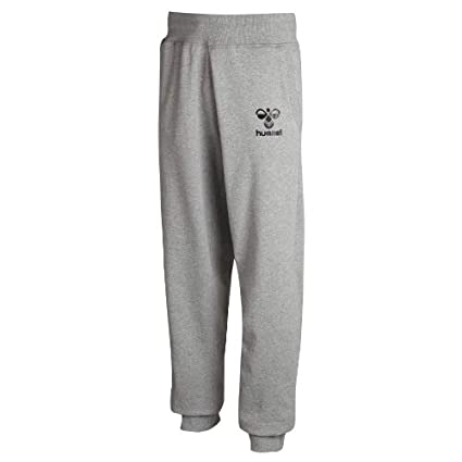 Hummel Baumwoll-Jogginghose Herren lang – CLASSIC BEE SWEAT PANTS – Fitnesshose in Schwarz & Grau - Sporthose Sweat - Laufhose normale Passform - Fußballhose 39-400
