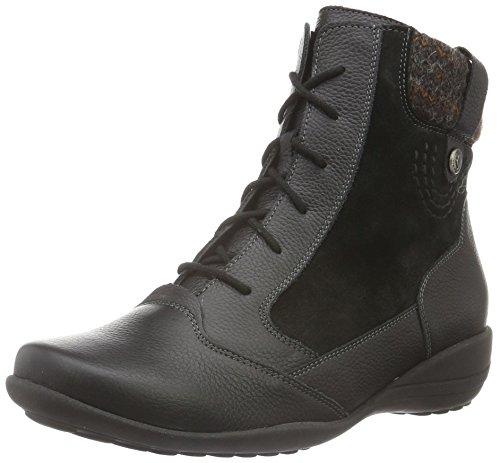 Waldläufer Katja, Women's Warm-Lined Short-Shaft Boots and Bootees Mehrfarbig (Pigalle Velour Rocco Schwarz Schwarz Braun)