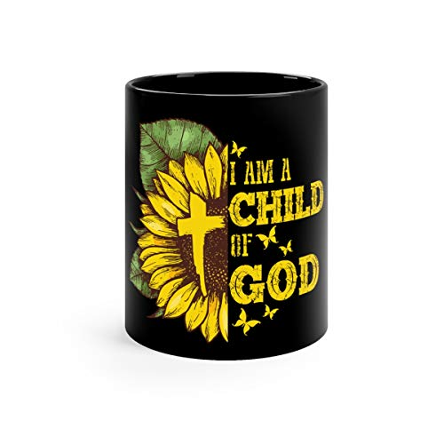 (I Am A Child Of Hippie God Christian Sunflower Coffee Awesome Mugs Cup Ceramic 11oz)