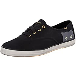 Keds Women's Taylor Swift Sneaky Cat Fashion Sneaker, Black, 9 M US