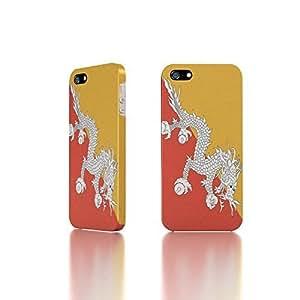 Apple iPhone 5 / 5S Case - The Best 3D Full Wrap iPhone Case - Bhutan Flag