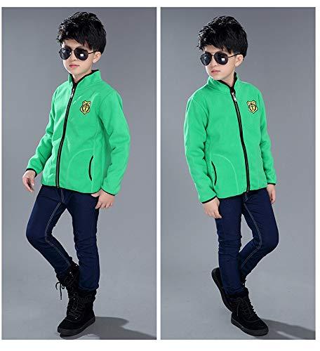 Zumeet Kids Boys Solid Color Stylish Fleece Jacket