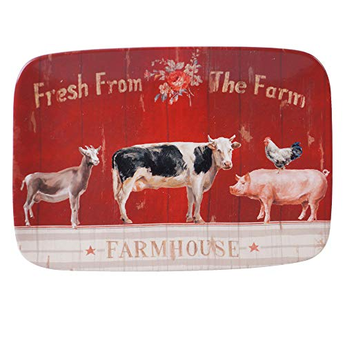Certified International 26742 Farmhouse Rectangular Platter, 14 x 10 Servware, Serving Acessories, Multicolred ()