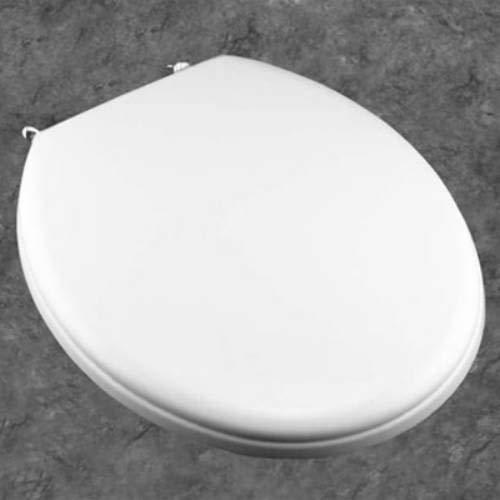 Bemis 800CCP 000 Commercial Plastic Round Toilet Seat White by Bemis (Image #1)