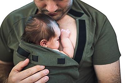 DadWare Bondaroo Baby Wrap T-Shirt | Skin to Skin Kangaroo Care Bonding Shirt – Soft, Comfortable, Safe, Stylish | Sleep More, Cry Less, Promote Bonding! Baby Shower Gift NICU Must Have!