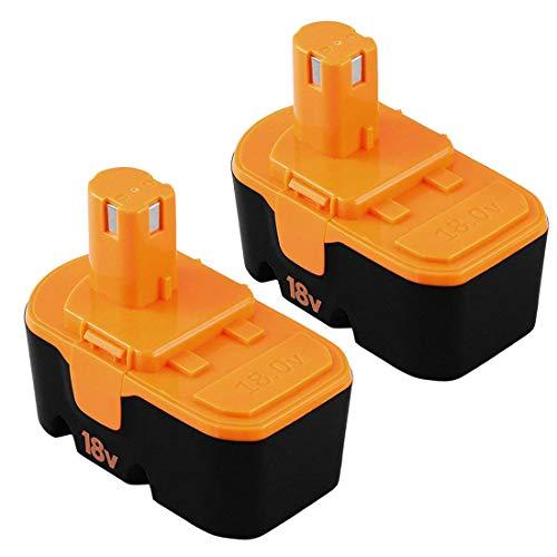 [Upgraded 3600mAh] Replace for Ryobi 18V Battery One Plus P100 P101 ABP1801 ABP1803 BPP1820 BPP-1815 1322401 1400672 13022 1323303 130255004 130224028 130224007 Cordless Power Tools 2 Packs
