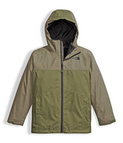 The North Face Boys Chimborazo Triclimate Jacket - Burnt Olive Green Heather - XS by The North Face