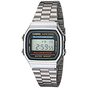Casio Men's Quartz Plastic and Stainless Steel Casual Watch, Color:Silver-Toned (Model: A168W-1)