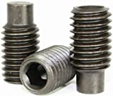 Socket Set Screws, Full Dog Point, 10-32 x 1/2'', Alloy Steel, Black Oxide, Hex Socket (Quantity: 100) Fine Thread, 10 Grub/Blind/Allen/Headless Screw, Length: 1/2 inch