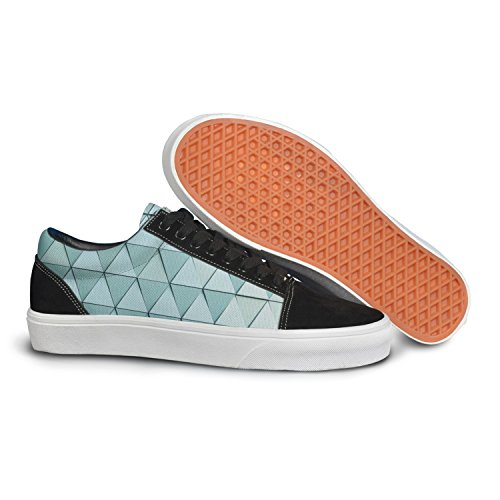 VCERTHDF Print Trendy Material Design Animated Background Stylish Low Top Canvas Sneakers