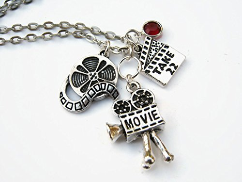 85e7c4f359a7 Image Unavailable. Image not available for. Color  Personalized Film  Necklace