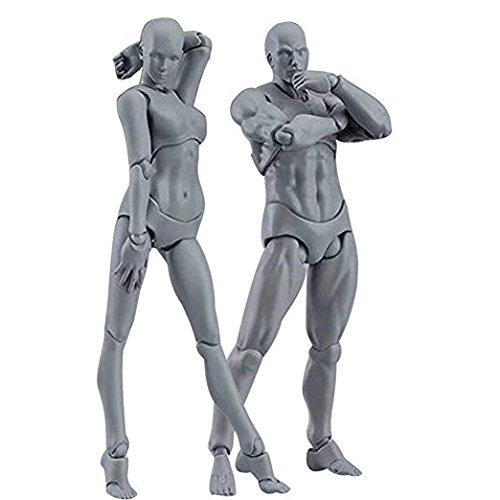 2Pcs Body Chan & Kun PVC Movebale Action Figure Model For SHF Version 2.0 Gifts 135mm Art Anime Toys
