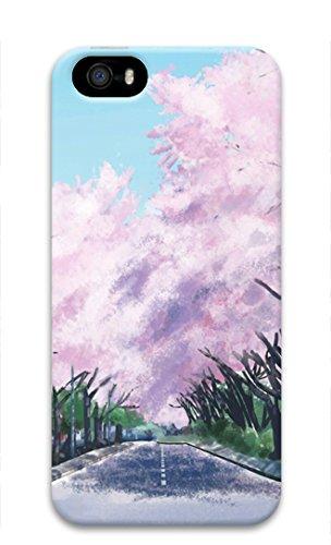 Amazon Iphone 5 5s ケース かわいい 人気 おしゃれ 町 桜 風景