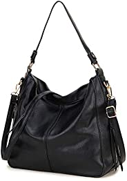 Hobo Bags for Women, Fashion Ladies Purse and Handbags Faux Leather Shoulder Bags with Detachable Long Strap,